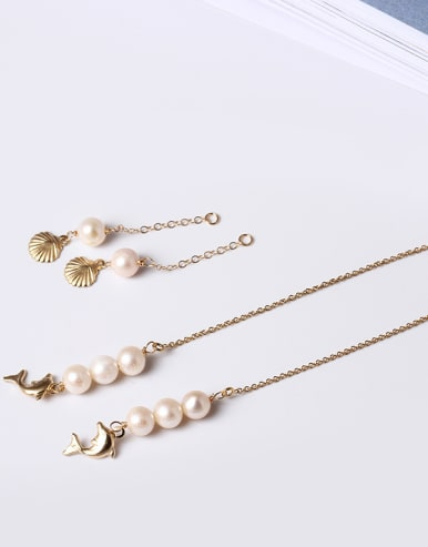 Shell Peals Fashion Separated Line Earrings