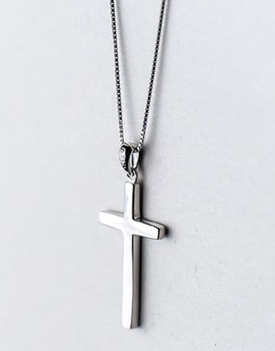 Personality Cross Shaped S925 Silver Pendant