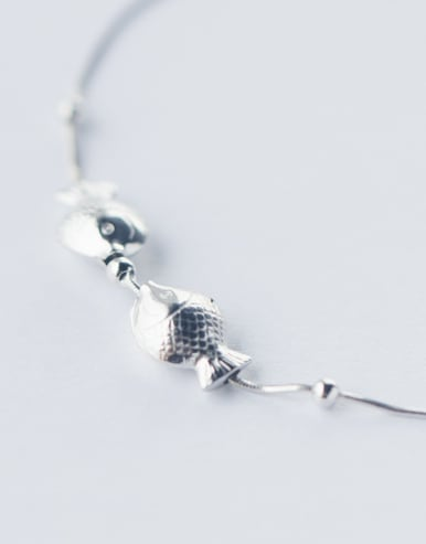 Lovely Fish Shaped S925 Silver Foot Jewelry