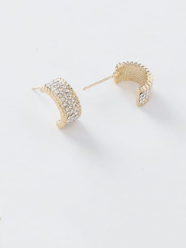 Alloy With Gold Plated Fashion Geometric Stud Earrings