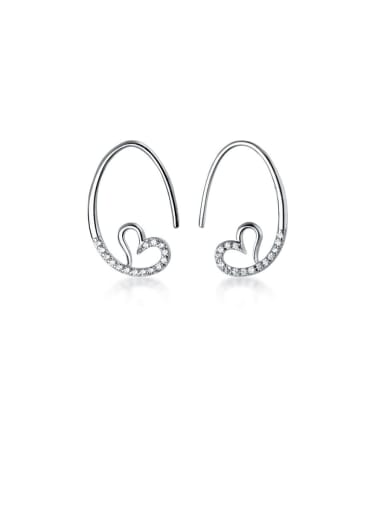 925 Sterling Silver With Rose Gold Plated Fashion Irregular Hook Earrings