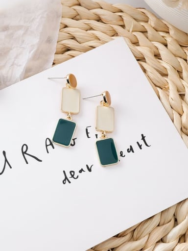 Alloy With Gold Plated Simplistic Geometric Drop Earrings