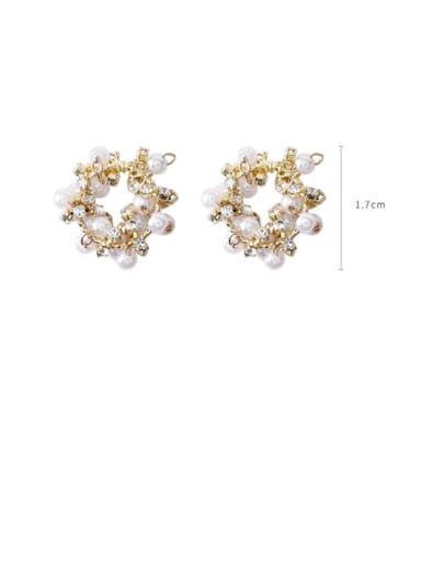 Alloy With Gold Plated Fashion Round Stud Earrings