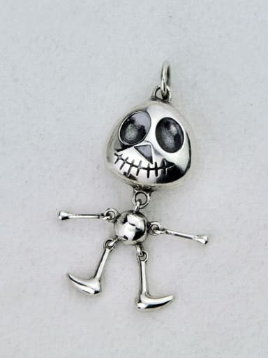 Vintage Sterling Silver With Personality Joints Can Be Activated Skull Diy