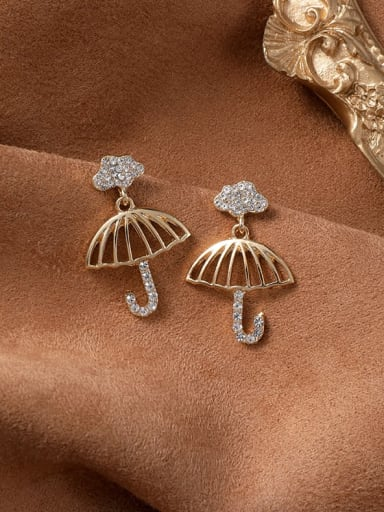 Alloy With Gold Plated Fashion Irregular Drop Earrings