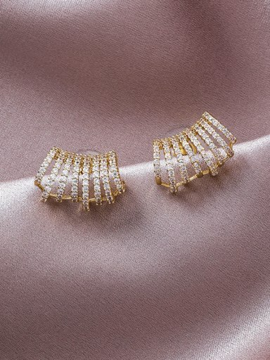 Alloy With Gold Plated Trendy Irregular Stud Earrings
