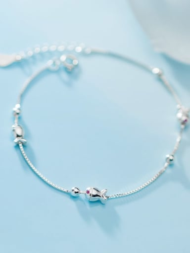 925 Sterling Silver With Platinum Plated Trendy Irregular Bracelets
