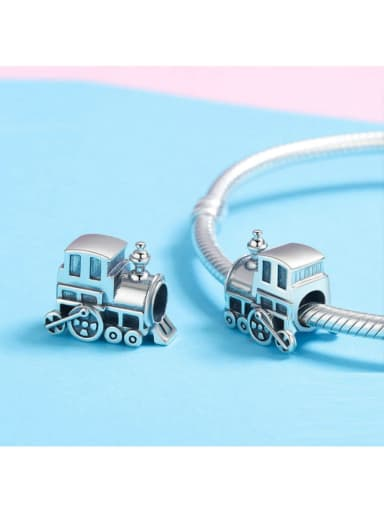 925 silver locomotive charm