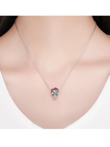 925 silver skull charm