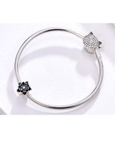 925 silver lotus charm