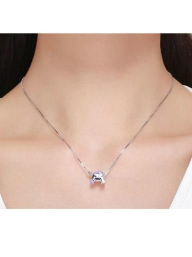 925 silver cute unicorn charm