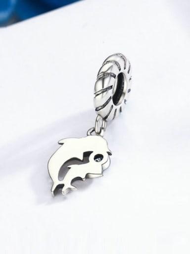925 silver cute dolphin charm