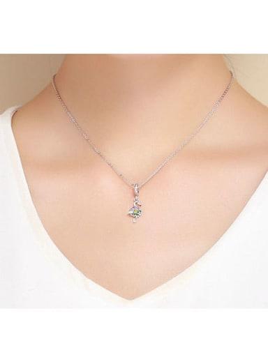 925 silver cute swan charm