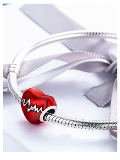 925 silver heart-shaped charm
