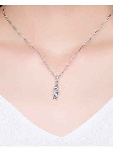 925 silver cute hippocampus charm
