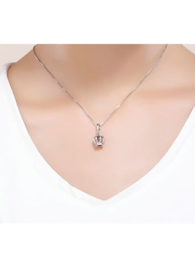 925 silver elegant crown charm