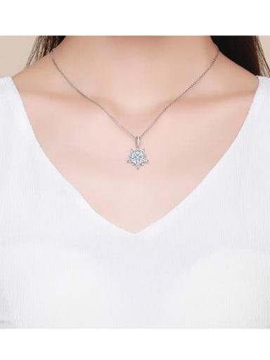 925 silver romantic snowflake charm