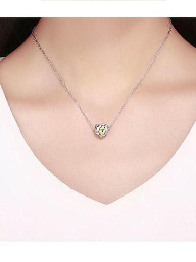 925 Silver Rainbow Heart charm