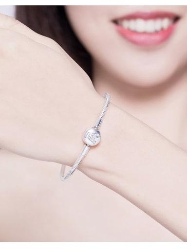 925 silver letter A Chain Bracelet