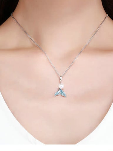 925 Silver  Mermaid Necklace