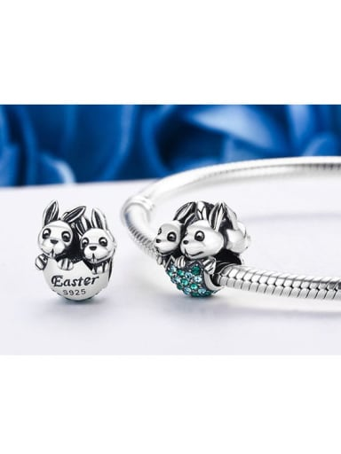 925 Silver Easter Bunny charm