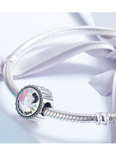 925 Silver drip process charm