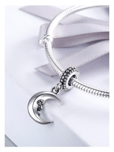 925 silver crescent charm