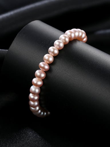 925 Sterling Silver With Platinum Plated Classic Oval Beaded Bracelets