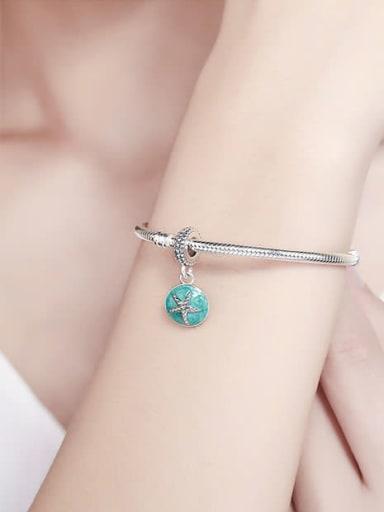 925 silver cute starfish charm