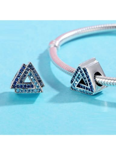 925 silver triangle shape charm