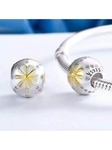 925 silver snowflake charm