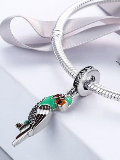 925 Silver Cute Parrot charm