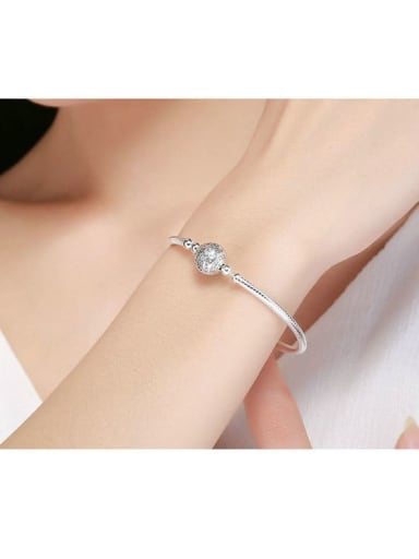 925 silver Cubic Zirconia element basic bracelet
