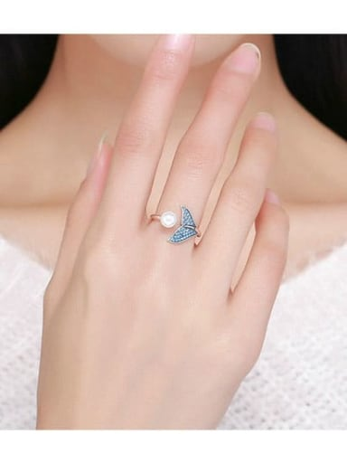 925 Silver  Free Size Ring