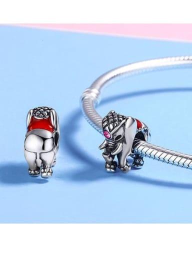 925 silver cute elephant charm