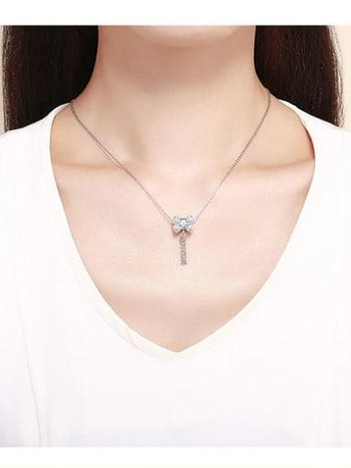 925 silver cute bow charm