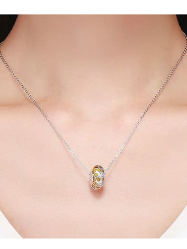 925 silver cute honeycomb charm