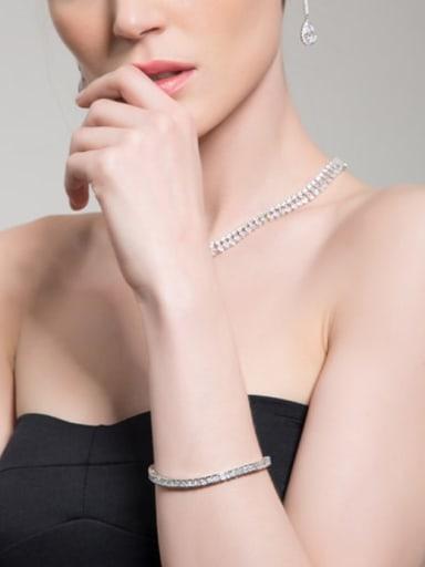 Tennis Square Delicate Bracelet
