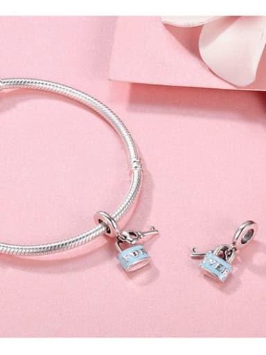 925 Silver Love Oath Lock charm