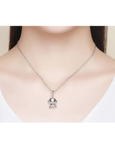 925 silver cute robotic charm