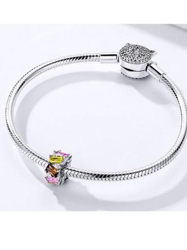 925 silver Cubic Zirconia charm