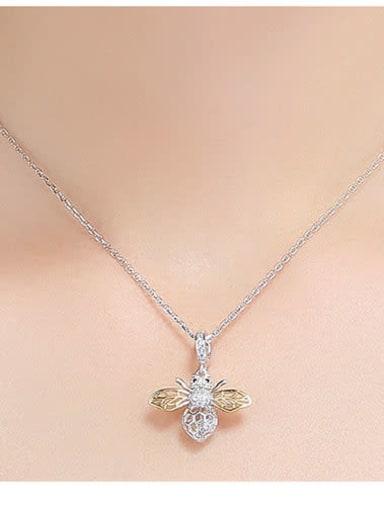 925 silver cute bee charm