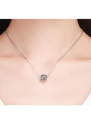 925 silver green star charm