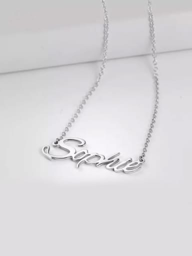 """""""Sophie"""" Style Customized Personalized Name Necklace"""