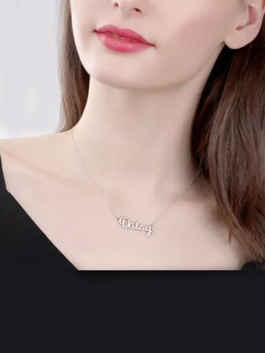 Customized Name Necklace silver
