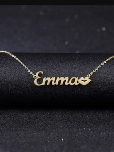 Personalized Kiss Name Necklace Silver