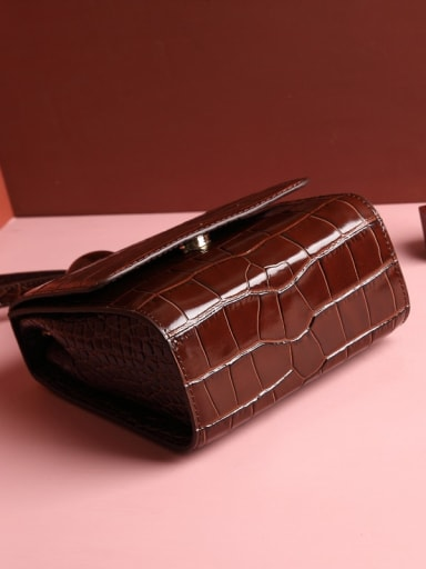 Shoulder Bag with Crocodile embossed