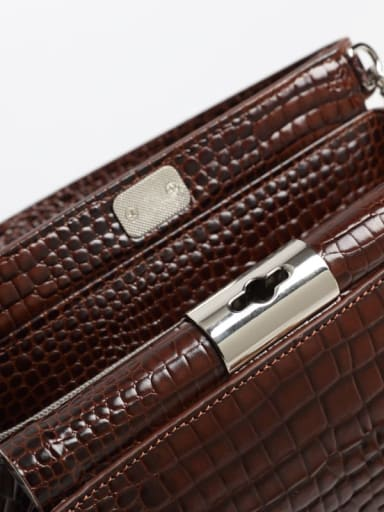 Crocodile embossed CrossBody Bags