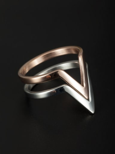 Mother's Initial Multicolor Stacking Ring with 6-9#