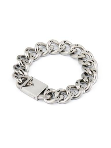 Blacksmith Made Silver-Plated Titanium chain Bracelet